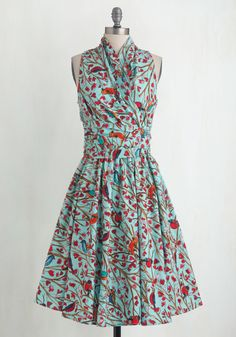 Front Perch Swing A-Line Dress, #ModCloth