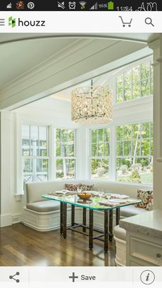 Breakfast nook with natural light