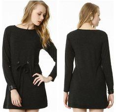 Sukienka krótka, mini,wiązana,szary melanż, r. S/M