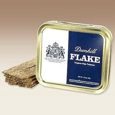 If you're a fan of all-Virginia flakes, your cellar isn't complete without some tins of Dunhill Flake. bright yellow flue-cured tobaccos are combined with red/orange Virginias which are matured under pressure and sliced. The flavors are sweet with hay and grassy notes with a hint of citrus. It's wonderful fresh, but is magnificent with some age on it.