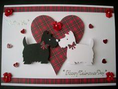 Cute Valentines Day Cards Handmade. Luxury Handmade Scottie And Westie Valentines Day A4 Card SCOTTIE