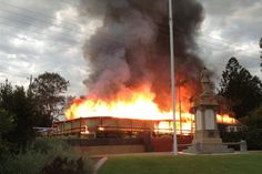Kandanga Hotel on fire. Another sad loss of an old Queenslander pub!