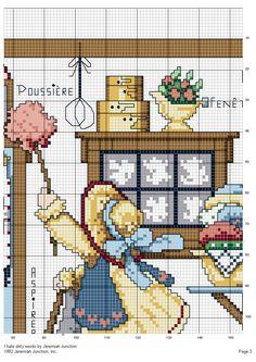 Schema punto croce Grandi Pulizie 03
