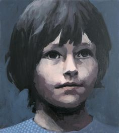 What if Claerwen James could paint the portrait of my children? Small blue head of a girl 2012