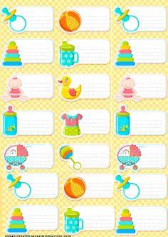 Etiquetas para bebe recien nacidos-Imagenes y dibujos para imprimir