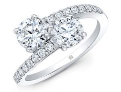 Rahaminov for Forevermark 2 Stone round diamond engagement ring