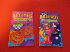 """Vintage Lisa Frank Halloween Coloring Book Party Favors Set Of 2 3""""x5"""""""