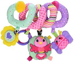 Infantino Spiral Activity Toy, Pink This fun spiral includes four visually delightful hanging toys in perfect batting and grabbing range. Perfect for baby's gross motor skill development and visual tracking. Car Seat And Stroller, Baby Car Seats, Toddler Toys, Baby Toys, Toys For Little Kids, Musical Toys, Activity Toys, Developmental Toys, Everything