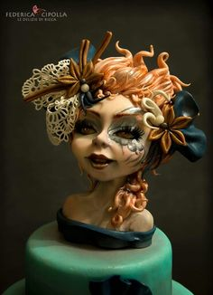 I took inspiration from a work of Jennifer Healy! Gorgeous Cakes, Amazing Cakes, Food Sculpture, Sculpted Cakes, Fairy Cakes, Polymer Clay Dolls, Fondant Figures, Creepy Dolls, Specialty Cakes