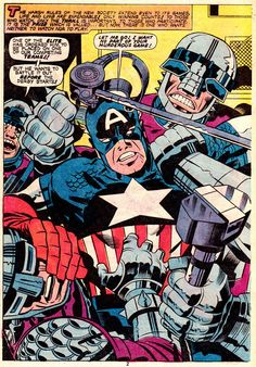 A Page from Captain America & The Falcon #296 (1976), Art & Words by Jack Kirby
