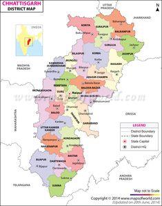 Chattisgarh District Map
