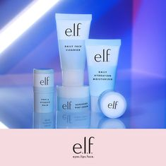 It's all about e.l.f. care! Hydrate and pamper your skin with the Jet Set Hydration Kit 💦 Skin Care Routine Steps, Skin Care Tips, Beauty Care, Beauty Skin, Beauty Tips, Clear Skin Tips, Face Skin Care, Face Cleanser, Skin Treatments