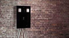 The London Lightbox Beautiful Photobooth Photo Booth Black Wood
