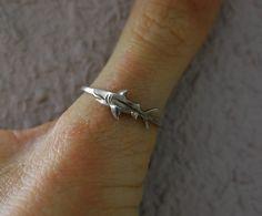 Great White Shark Ring  Ocean Jewellery by by SophieJadeJewellery