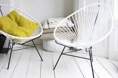 Acapulco chairs by OK Design Interior Design Blogs, Interior Inspiration, Interior Ideas, Famous Chair Designs, Ok Design, Graphic Design, Acapulco Chair, Happy New Home, Ideas Prácticas