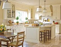 Renovated #Kitchen That Includes Drawing All Interior Moldings, Millwork, and Ceiling Details, -TraditionalHome
