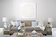 client project reveal: mixed blues living room