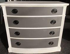dresser redo - maybe white with yellow drawers?