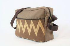 READY TO SHIP - unisex - messenger bag - bag for men - brown - chevron by BagitBag on Etsy