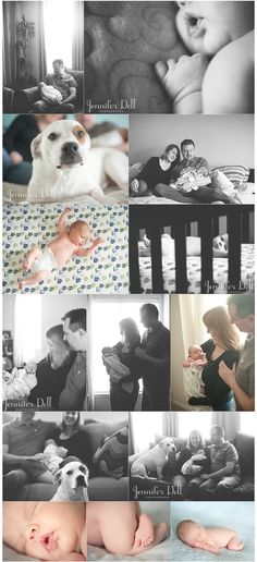 Newborn photography © Jennifer Dell Photography - I love this soft feel and love the lifestyle shots!