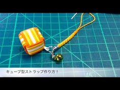 キューブ型ストラップの作り方! - YouTube Diy And Crafts, Paper Crafts, 3d Origami, Projects To Try, Youtube, Personalized Items, Pendant, Crochet, Accessories