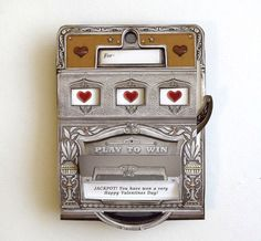 Get Lucky Slot Machine Card with custom message by crankbunny from crankbunny on Etsy
