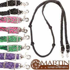 🐎 MARTIN Knotted Nylon Barrel Reins