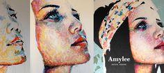 amylee.fr - tableaux contemporains, portraits colorés, artiste à découvrir