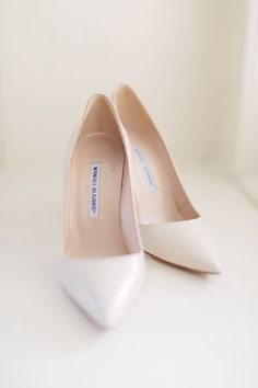The nude classic pump is forever in style, and bonus, these Manolo's will make your legs look 2 miles long.   - HarpersBAZAAR.com