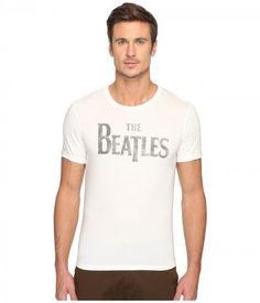 John Varvatos Star U.S.A. - The Beatles Logo Graphic Tee K3011S4B (Salt) Men's T Shirt
