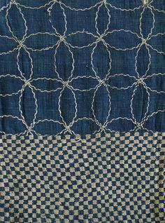 Sri | A Beautiful Boro Sashiko Stitched Bag: Rustic Sashiko