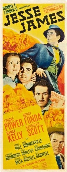 """JESSE JAMES"". (1939) TYRONE POWER, HENRY FONDA"