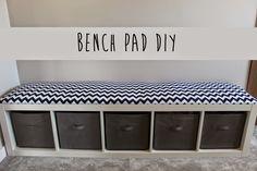 Créer une assise pour une étagère Expedit et la transformer en banc... Nickel dans l'entrée
