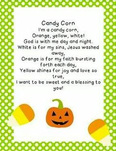 candy corn - Religious Halloween Crafts