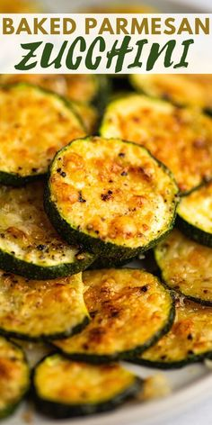 Breaded Zucchini Parmesan Is Fried Until Crispy And Baked In A Casserole Dish With Layers Of Marinara Sauce And Mozzarella Cheese. Baked Zucchini Parmesan, Zuchinni Recipes, Bake Zucchini, Healthy Zucchini, Zucchini Rounds, Zucchini Vegetable, Zucchini Side Dishes, Easy Vegetable Side Dishes, Vegetable Recipes