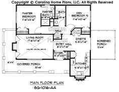 Small Cottage Style House Plan SG-1016 Sq Ft | Affordable Small Home Plan under 1100 Square Feet