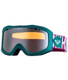 Roxy Sunset Goggles Transparent Green/Orange Chrome Lens - Womens 2014