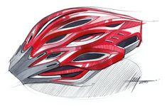 Sketch-A-Day Roundup: industrial design bike helmet sketch by Spencer Nugent