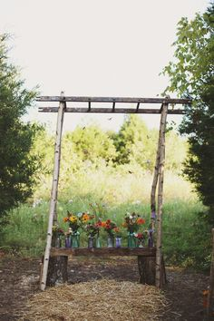 Southern weddings - sapling ceremony arch