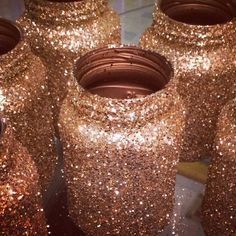 Gold Glitter Mason Jars :  wedding centerpiece glitter gold mason jar reception C2434d5c74dd11e3a60912ea6ba92f7d 8