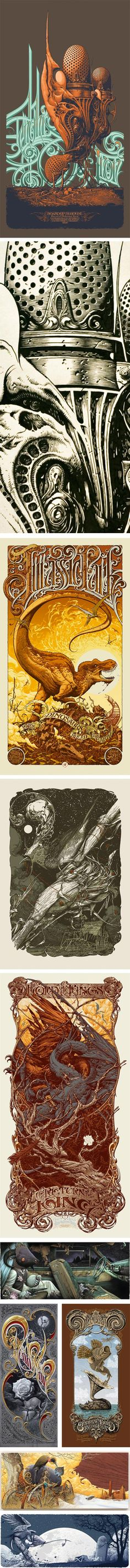 Amazing detail and typography from Aaron Horkey