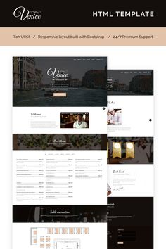 With our Venice Restaurant - Cafe & Restaurant Responsive Website Template and exceptional drag and drop website creator, you can always assemble your website without any coding whatsoever. #html5 #htmltemplate #restauranttemplate #restaurantbranding  https://www.templatemonster.com/website-templates/venice-restaurant-cafe-restaurant-responsive-website-template-66273.html/