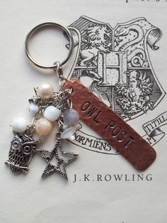 Owl Post - Harry Potter stamped keychain