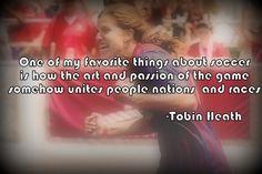 Tobin Heath on soccer uniting nations...