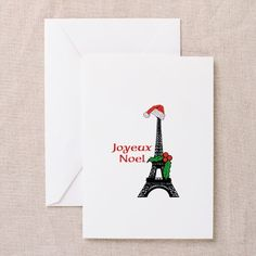 Sold a pack of Whimsical Eiffel Tower Paris Joyeux Noel Greeting cards, one of the new designs for this holiday season at my @CafePress