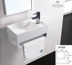 Mineralguss Waschbecken - Art. LP-623 ATESIA Aufsatzbecken