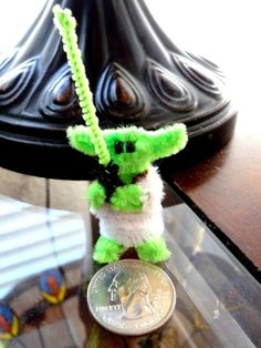 pipe cleaner creations | STAR WARS - Mini Yoda - Pipe Cleaner Creation