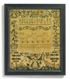 Rare Needlework Sampler, Mehitable Foster (1771-1803), Canterbury, New Hampshire, Dated 1786 | Lot | Sotheby's