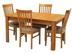 jual meja makan minimalis panjang dengan 4 kursi bahan menggunakan kayu jati perhutani tua jadi aman dan kokoh table best quality dining room furniture
