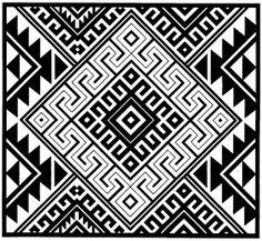 ser pura alma: diseños precolombinos Ethnic Patterns, Loom Patterns, Textures Patterns, Print Patterns, Pattern Art, Pattern Design, Indian Artwork, Native American Patterns, Native Design
